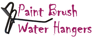 paint brush Water Hanger Logo